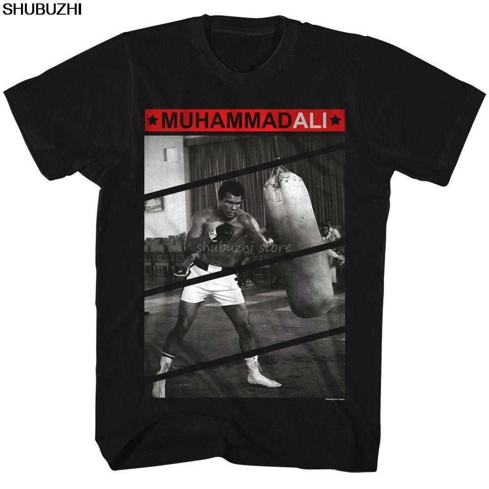 OFFIZIELLE Muhammad Ali Trainings Boxsack Männer T-Shirt Boxing Modemarke Top-Tees neue Baumwolle T-Shirt sbz1081