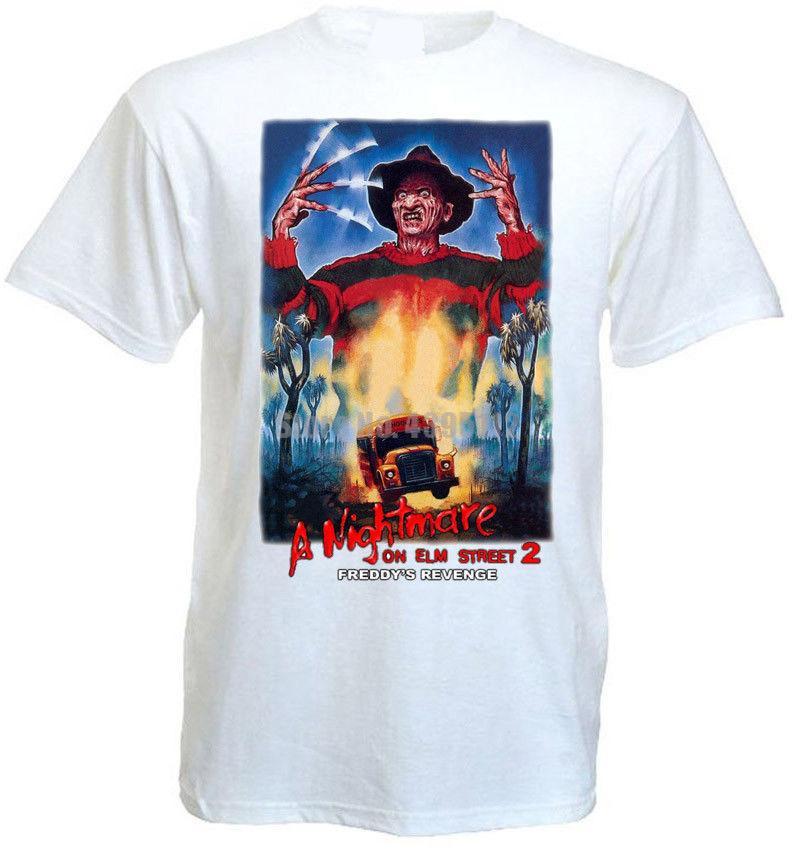 Pesadilla en Elm Street 2 V3 camiseta blanca del cartel Todos los tamaños S ... 5Xl