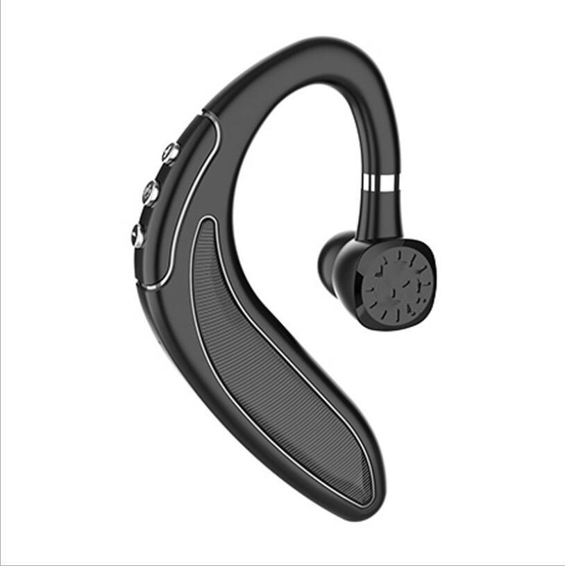 삼성 샤오 미를위한 B18 5.0 이어 후크의 저렴한 블루투스 무선 이어폰 핸즈프리 큰 배터리 사업 헤드셋 드라이브 콜 스포츠 이어폰