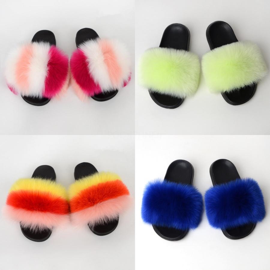Zapatos Shujin mujeres sandalias de verano sandalias cómodas plana perla Cadena de bolas de pelo Mujeres Casual Tamaño 35 - 43 # 891