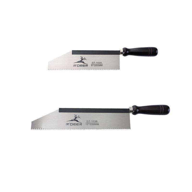 200 / 250mm Mini Handsäge Bügelsäge mit Griff Manganstahl für Holzbearbeitungs Cut