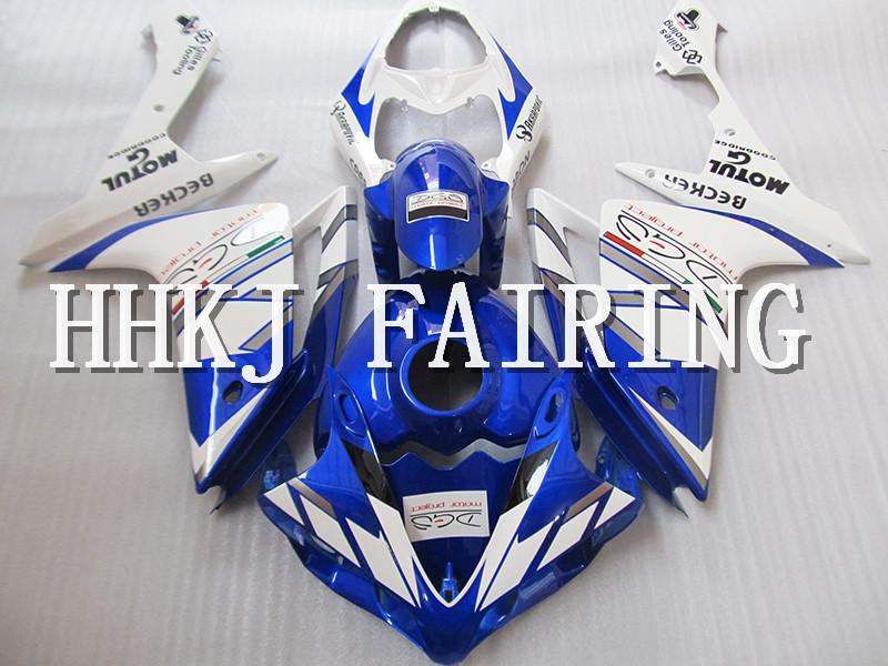 Moto in plastica ABS carene Fit Kit Per Yamaha YZF R1 2007 2008 Injection Molding motore Moto Hull carenatura HC722