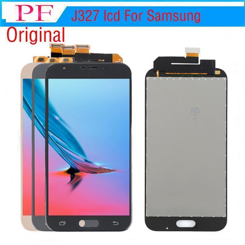TFT LCD für Samsung Galaxy J3 Prime 2017 / J327 LCD 100% Tesed Touch-Screen Display Digitizer Assembly No Dead Pixel Helligkeit einstellbar