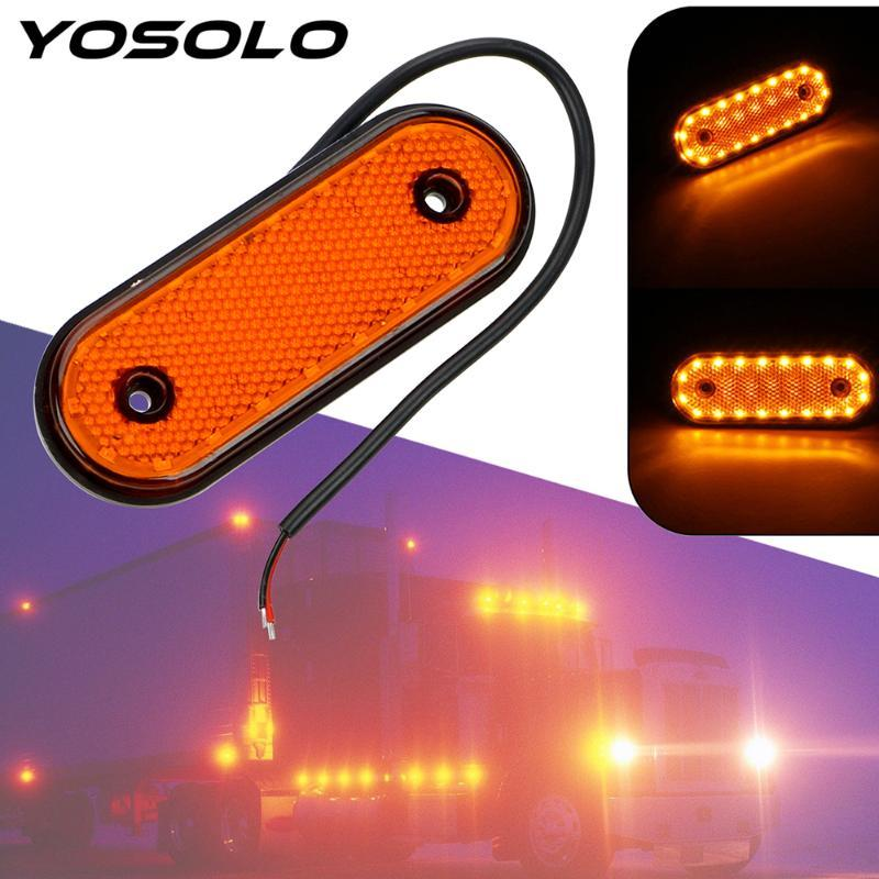 YOSOLO Signal Lamp DC 24V 20 LED Truck Side Marker Lights Clearance Lamp Red Yellow White Auto Accessories