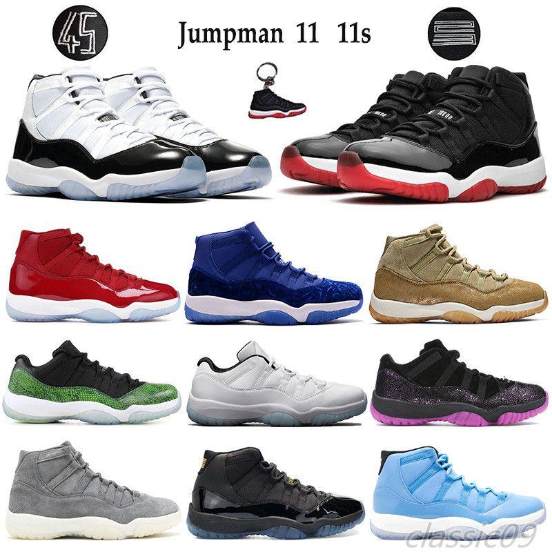 Portachiavi 11 11s Jumpman scarpe da basket Concord 45 allevato Platinum Tinta Heiress nero gamma blu bassa leggenda blu donna degli uomini delle scarpe da tennis Formatori