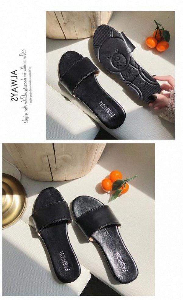 Verde Zapatilla Señora uso de Instagram Tendencia Web Celebrity 2020 mojado plano simple chanclas Playa Playa zapatillas para los hombres Mocasines U3CJ #