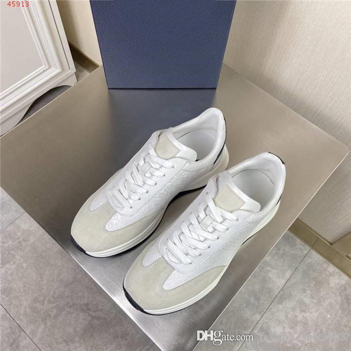 Mens цвет спортивного блока печать повседневная обувь, низкий рукав рот шнурков, спортивная обувь с толстой подошвой с коробкой 38-44