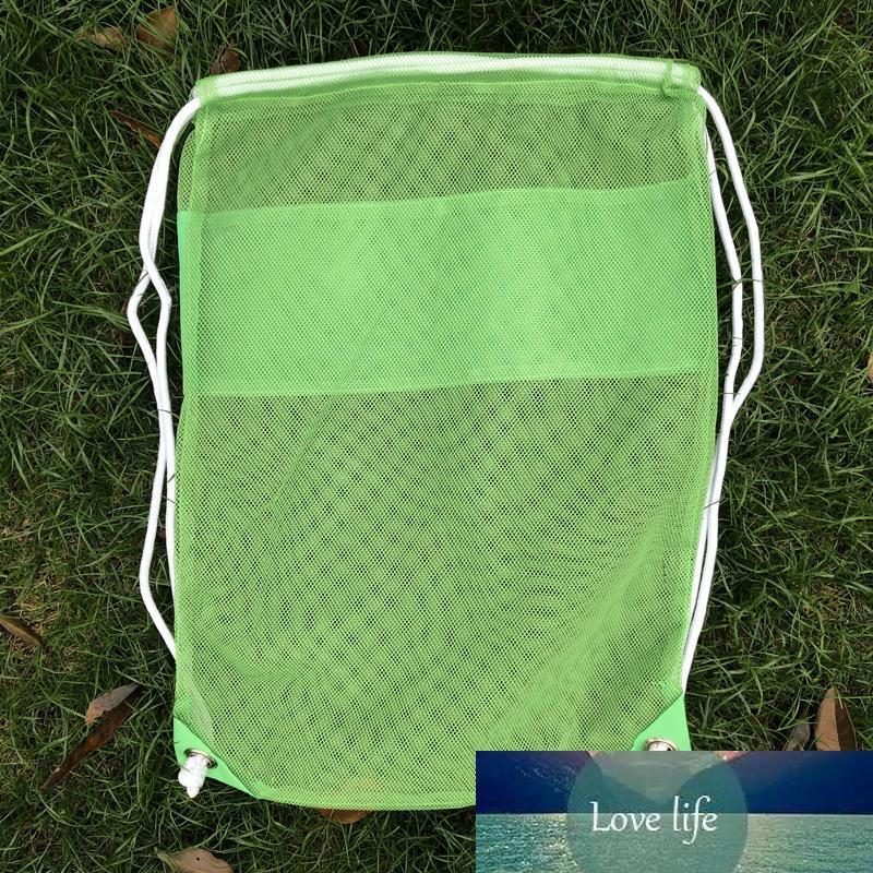 "10pcs 18,50 ""* 13,77"" Blanks enfants Nylon Mesh mer Shell Beach Stuff Sacks Beach Kids Jouets Sac à dos Mesh Sandboxes"