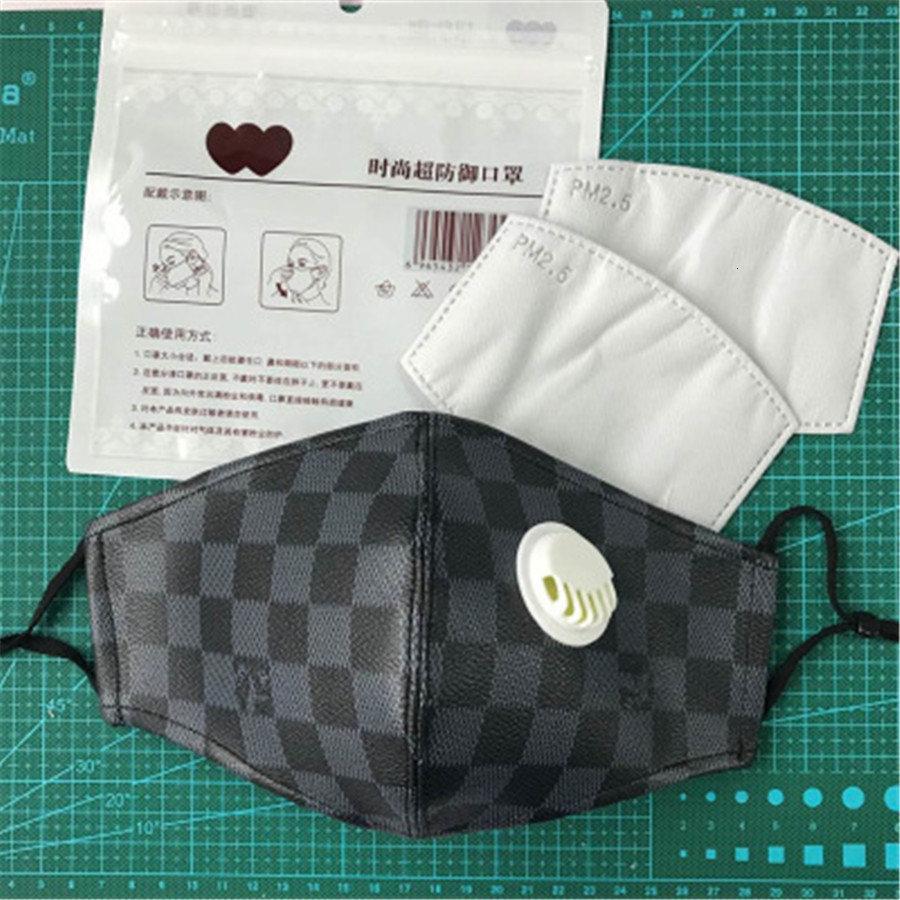Schwarz 5pcs Tasche Herren Designer-Maske-Rosa-Blau Summere Mund Gesicht Er PM2.5 Mund Masken Wiederverwendbare Waschbar Schutz Partei Masken # 851