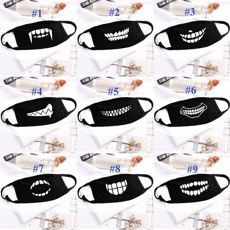 Drucken Cotton Teeth Mode Staub Lustige Designer Maske Waschbar Erwachsener Frauen Männer Mund
