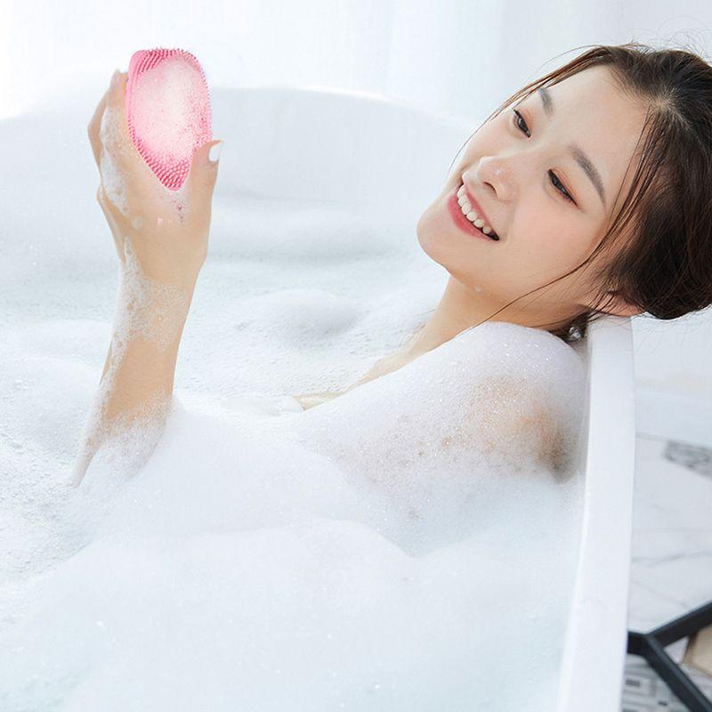 Bolha de silicone Esfoliante Suave escova rápida formação de espuma Esfregar massagem escova de banho B88