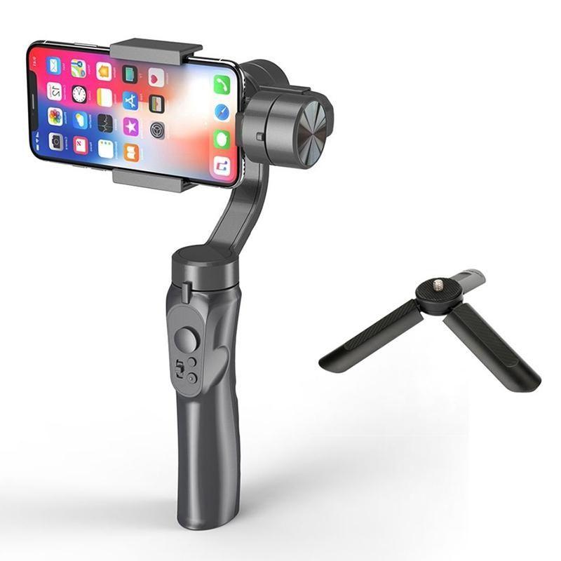 Titolare del giunto cardanico H4 palmare Stabilizzatore 3 Axis Video Recorder Action Camera Face Tracking Smartphone Stabilizzatore con Stand