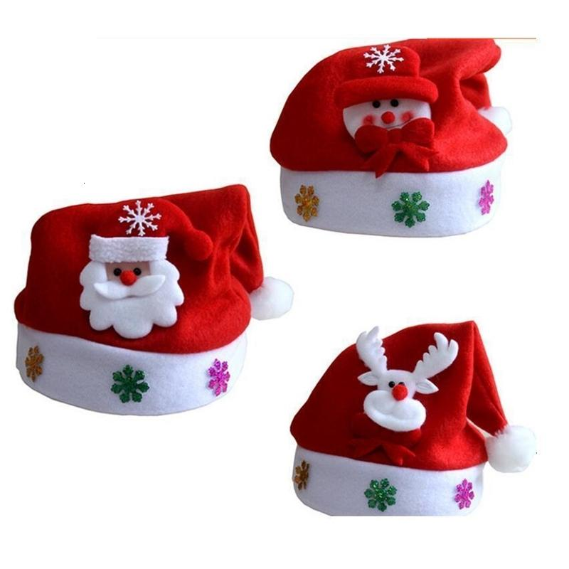 Nuova decorazione alta qualità cappello di Babbo Natale Carino adulti cappelli cosplay di Natale di trasporto