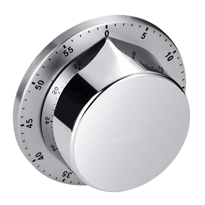 Kitchen Timer Chef Cozinhar Temporizador relógio com alarme alto não necessita de baterias Mecânica suporte magnético de aço inoxidável contagem regressiva Lembrete