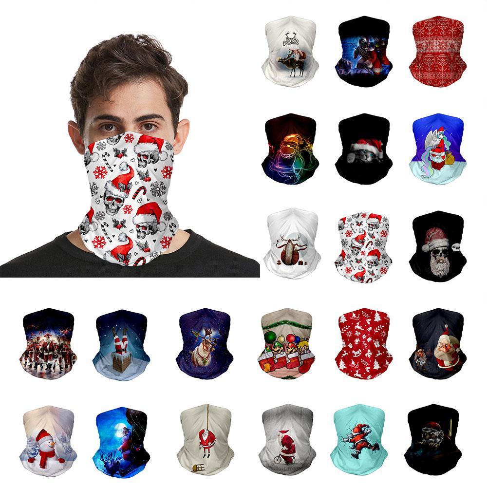 Weihnachtsdekoration Weihnachts 21 Stil Outdoor Sports Gesichtsschild 3D-Druck Multifunktionale Magie Turban Haus und Garten HHE1327