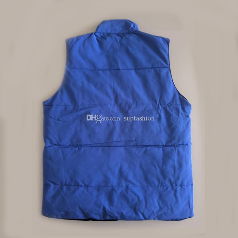 Aqueça de Brasão Down Vest Masculino Windproof Outdoor usar casacos New Arrival Black Men Alta Qualidade Men Espessura Vest espessamento Colete Além disso,