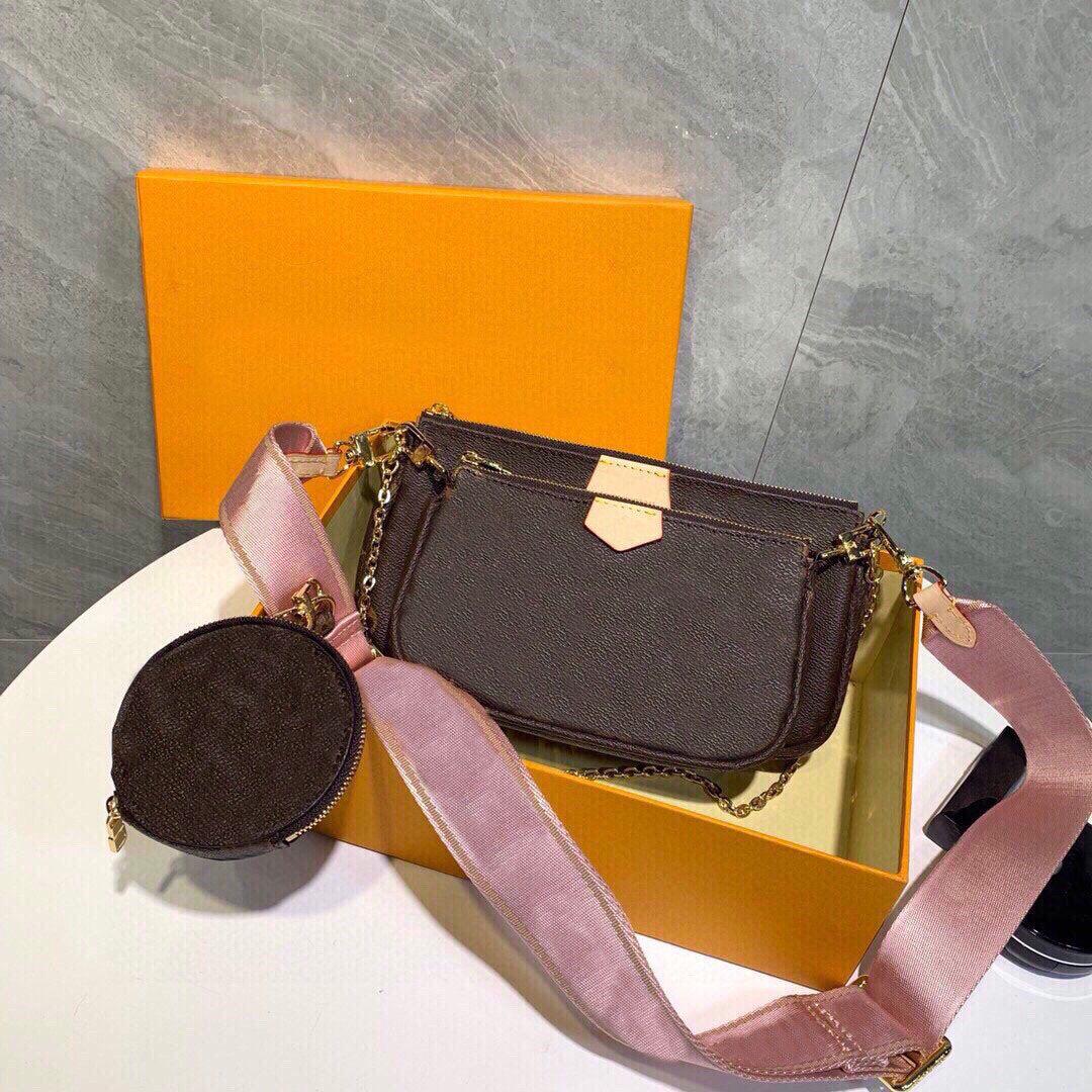2020 Yeni Çanta Sıcak Satış Messenger Çanta Moda Lady Omuz Çantası Üç parçalı Kombinasyon Çanta Yüksek kaliteli Deri Serbest Alışveriş