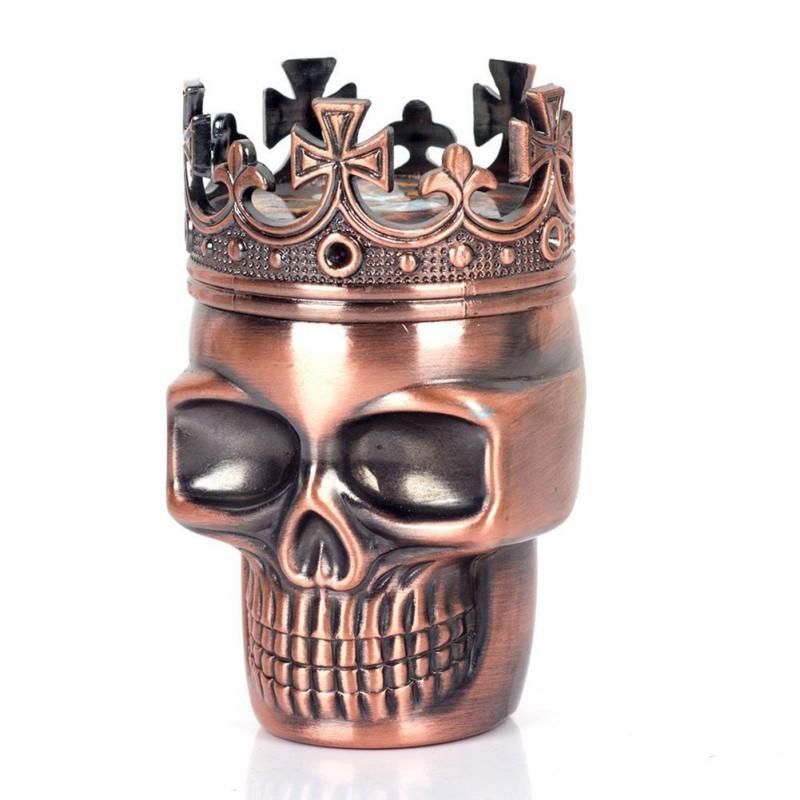 2 Colors Punk Ghost Head Skull Style Plastic Tobacco Grinder Herbal Herb Hand Muller Smoke Grinders Smoking Accessories