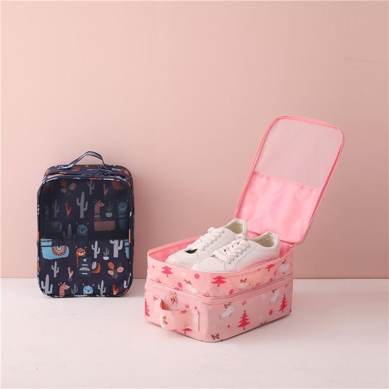 Calçados impermeáveis Bolsas de viagem portátil multicamada Sapatos sacos de armazenamento para viagem de negócios Carry passeios ao ar livre