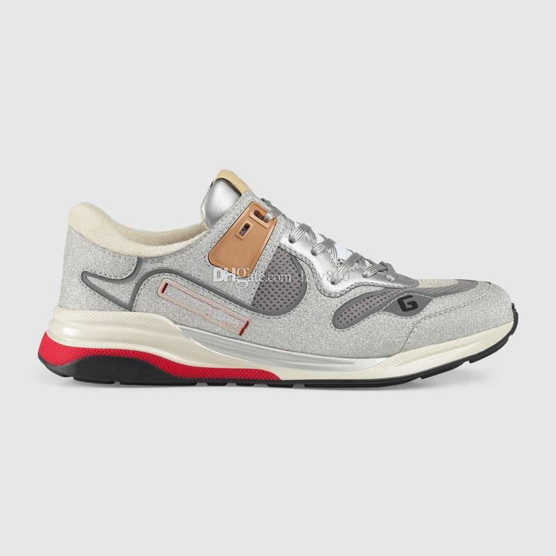 Scarpe di lusso Sneakers Fashion Italiano Sneakers Uomo Donne Donne Gold Silver Cool Sneaker Size 35-44 Modello QJRZ