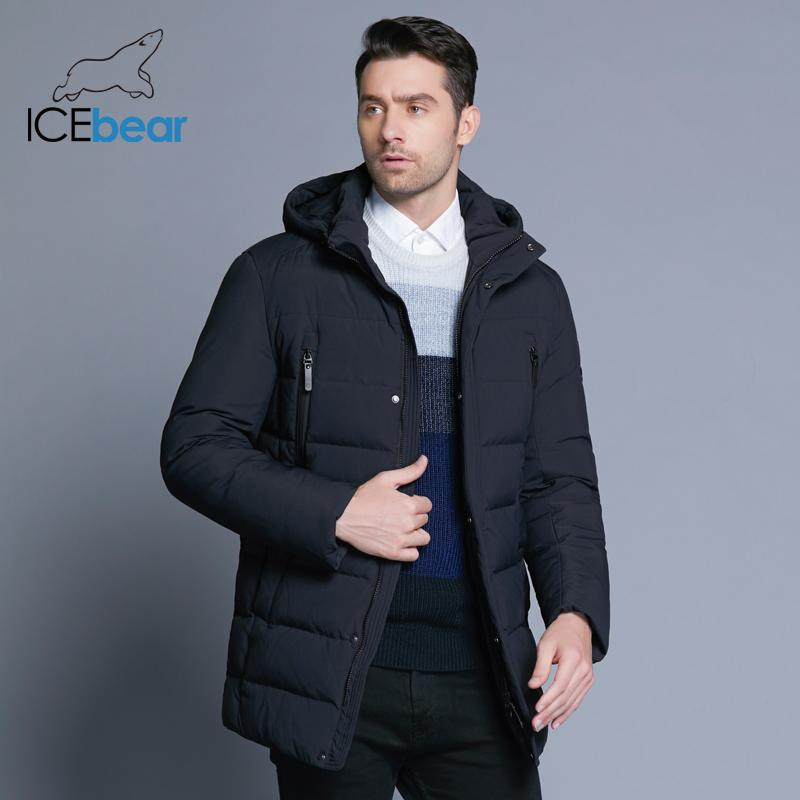 Men's Down & Parkas 2021 Winter Jacket With High Quality Fabric Detachable Hat For Male's Warm Coat Simple Mens MWD18945D