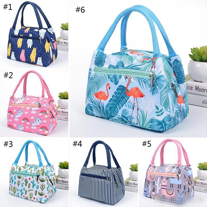 6 Style Portable Flamingo Unicorn pranzo sacchetto dell'isolamento termico del sacchetto di box pranzo viaggio Picnic Food for Women capretti delle ragazze di adulti B1
