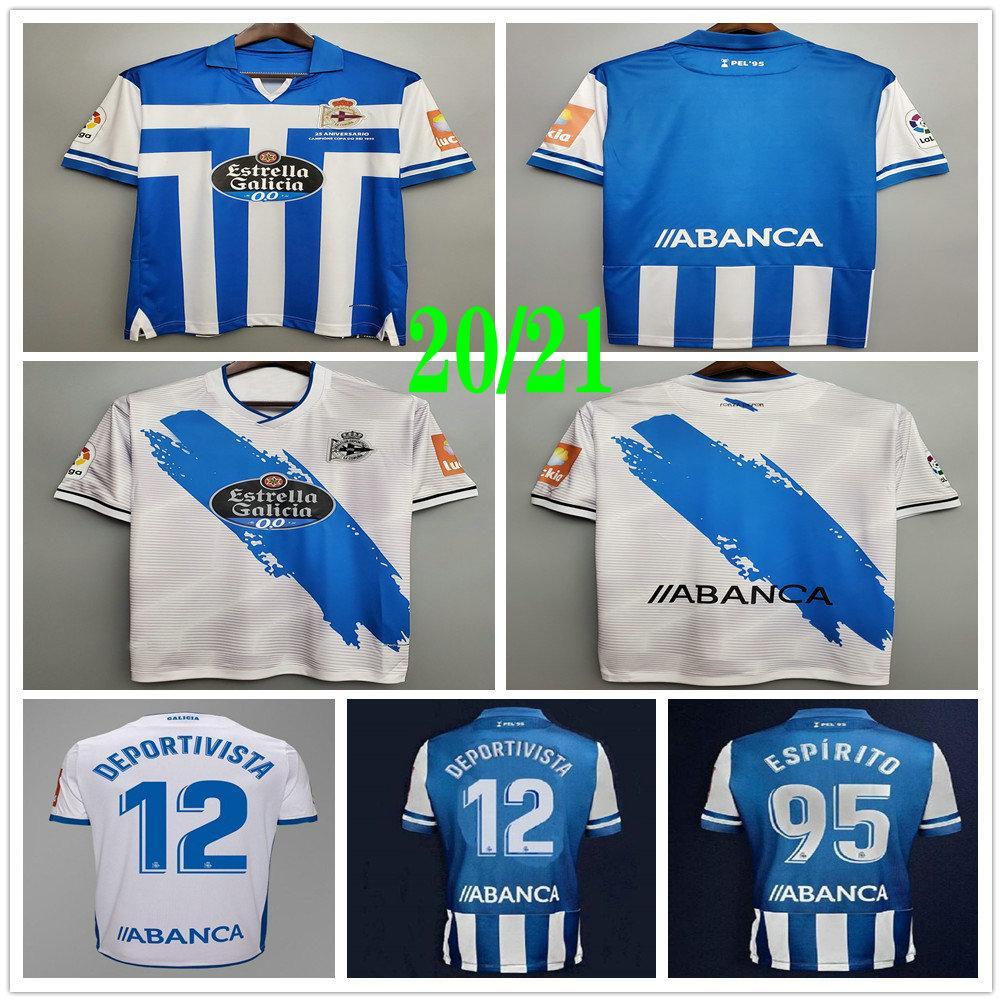 2020 2021 Deportivo La Coruna Soccer Jerseys XOEL Rober Pier Exposito Cartabia Custom 20 21 Home Away Blue White Adult Kids Football Shirt
