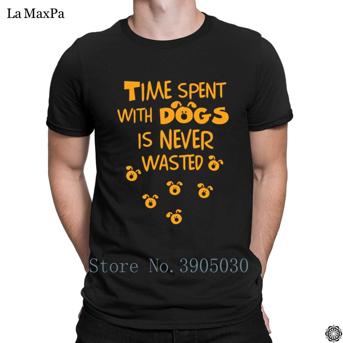 Adatti a lettere T-shirt Tempo Uomo trascorso Con La Camicia uomo T Cani non è mai sprecato Plus Size maglietta di marca Homme fitness