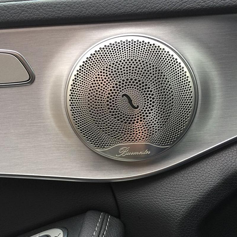 메르세데스 벤츠 E / C / GLC 클래스 W213 W205를위한 4 개 자동차 오디오 스피커 커버 트림 도어 스피커 커버 트림 자동차 액세서리 인테리어