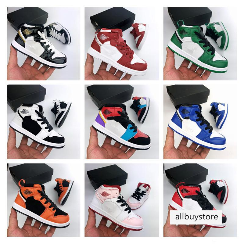 Jumpman band for boy girl Basketball Shoes Athletics Sneakers kids Running Shoe For baby Sports Torch Hare Game Royal Pine Court01