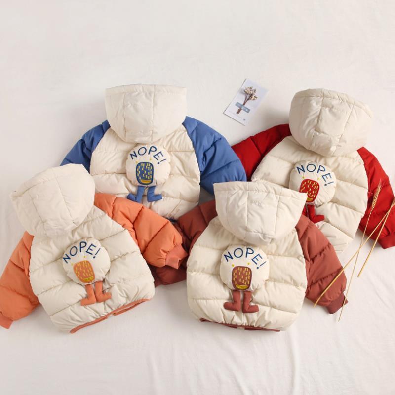 Giacca invernale per ragazzi ragazze cappotti bambini Capispalla Bambini Giù cappotto del cotone giacca impermeabile Ragazzi Snowsuit Ragazze con cappuccio Parkas