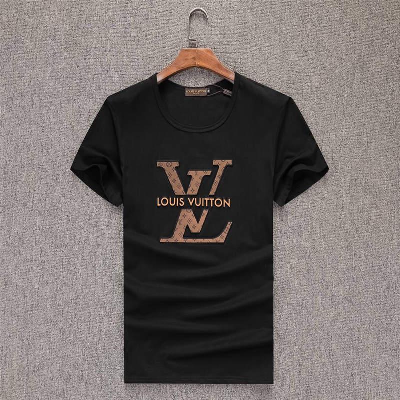 mmm2020 Últimas Camisetas masculinas de manga curta em torno do pescoço curto solta