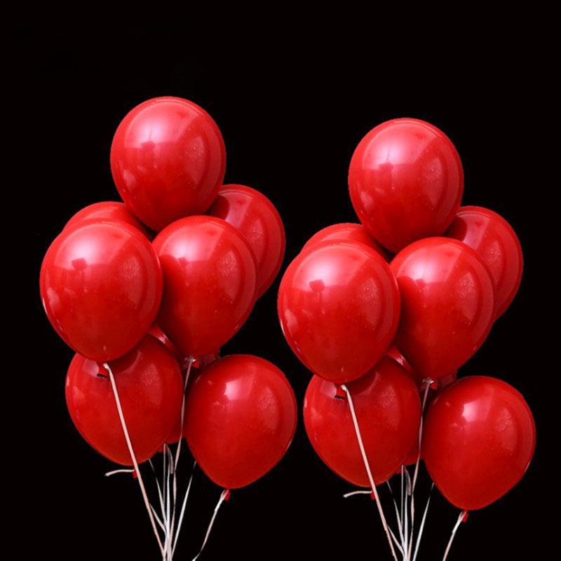 12inch Hot Sale double couche rouge foncé Ballons décoration de mariage Ballon Joyeux Anniversaire hélium Ballon