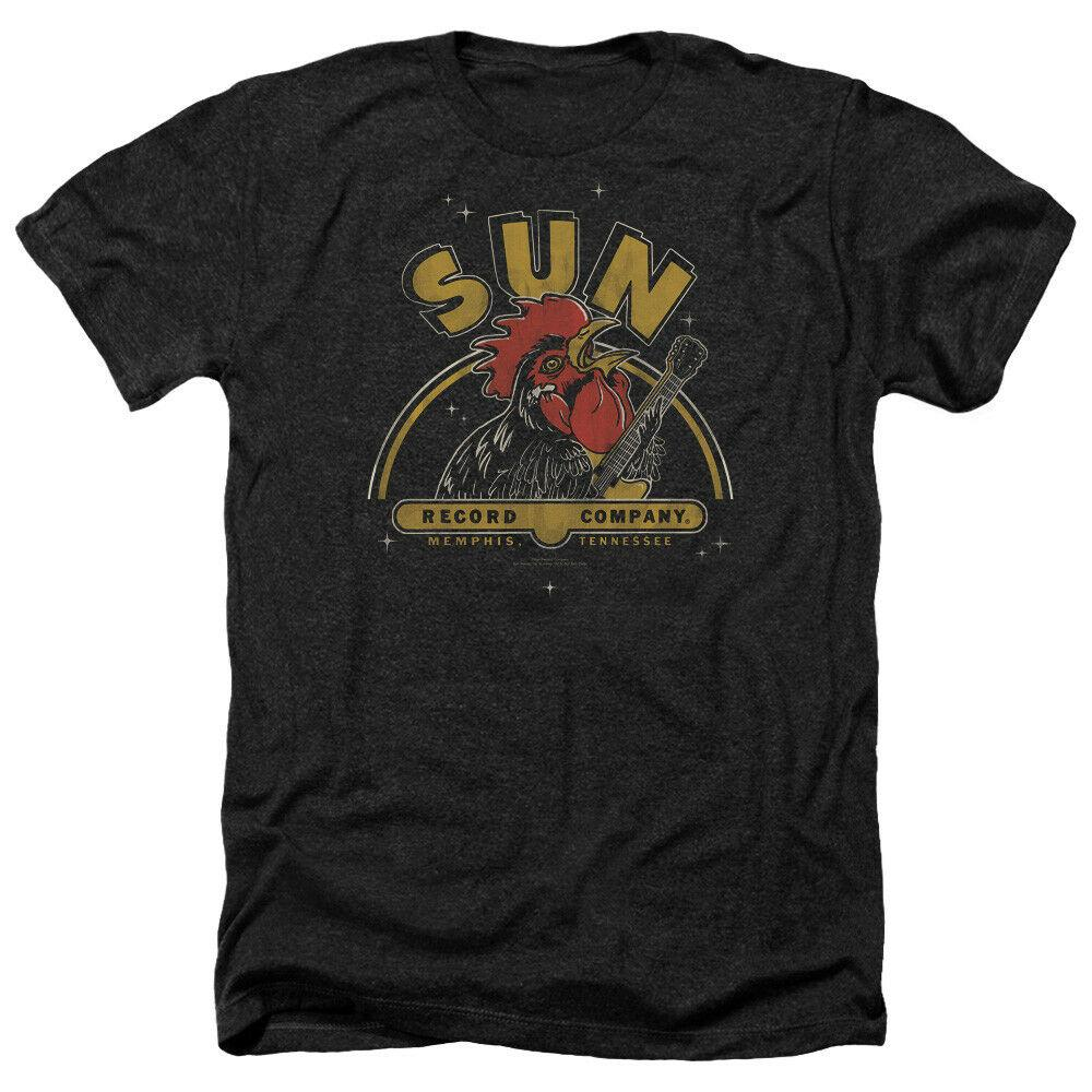 Sun Records DONDOLO GALLO adulti Heather T-shirt con licenza ogni dimensione Cotton Tee Shirt Big alto