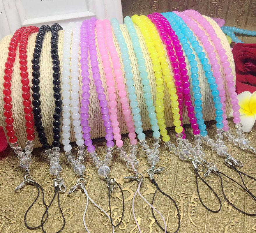 Artificial Crystal Necklace Bracelet Neck Strap Luxury Lanyard Cell Phone Mobile Telephone Belt Hang Chain Key ID PASS Card
