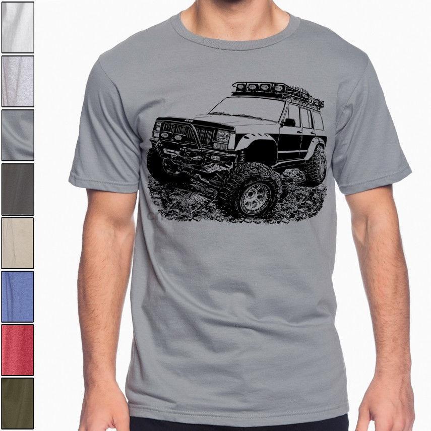 Camino del ventilador Cherokee XJ segunda generación de la camiseta Rally colores multi S-3XL Hombre redonda de la manera collar tapa de la camiseta camiseta estilo chino