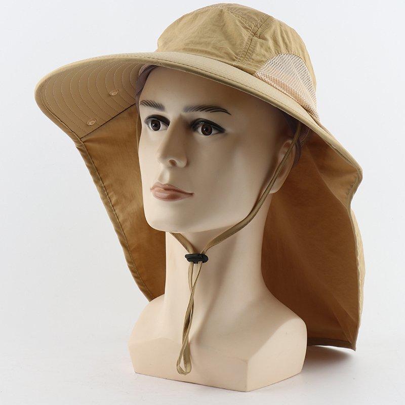 Camoland Autunm UPF 50+ Sun delle donne degli uomini dei cappelli di pesca impermeabili Maschio Large Wide Brim escursionismo cappello della benna con la maschera di protezione Ksti #