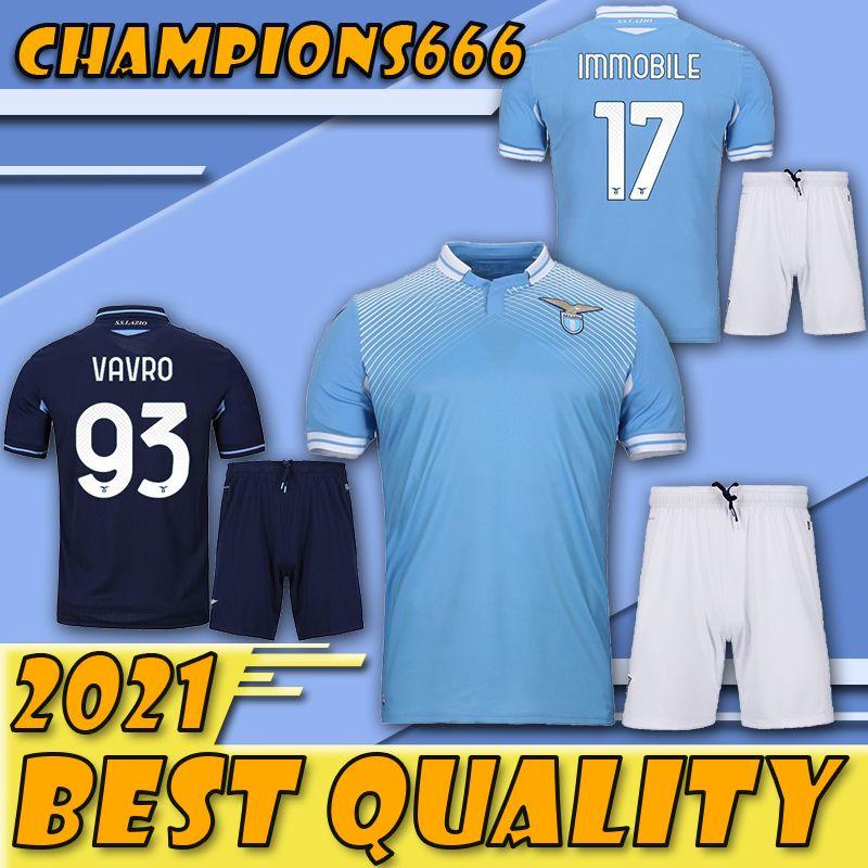 20/21 maillot de football Lazio adultes 2020 2021 Lazio costume maillot de football LUIS ALBERTO camiseta de Fútbol IMMOBILES SERGEJ de pied maglia maillot manches courtes