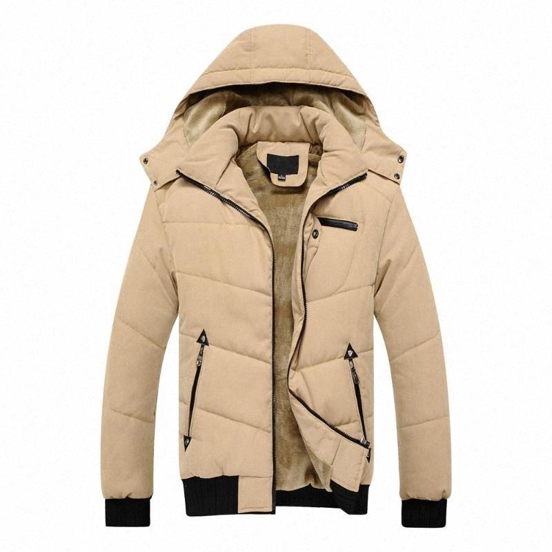 jaqueta masculina chaqueta gruesa chaqueta de invierno de los hombres a prueba de viento capucha para hombre parka chaquetas y abrigos ropa exterior cortavientos 9FEy #