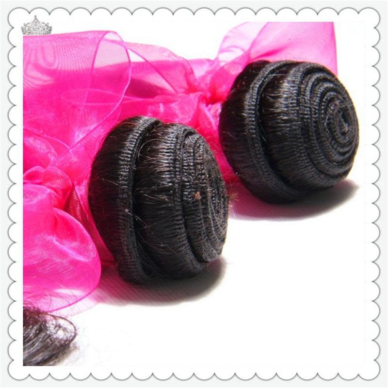 Onda do corpo preto Cor brasileiro do cabelo humano tece 1PCS / 2PCS / 100g brasileiro do cabelo da onda do corpo Pacotes Cabelo Remy 8-30inch Natural Color
