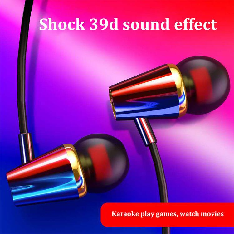 The new stylish 3D sound effect line control headset, in-ear microphone, stereo sound, compatible with oppo, iPhone, vivo, Huawei, Xiaomi