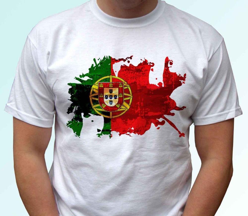 Männer 2019 Marken-Kleidung Tees Casual Male Designing T-Shirt Portugal-Flagge - weiße T-Shirt Top Country-Entwurf - Herren T-Shirt