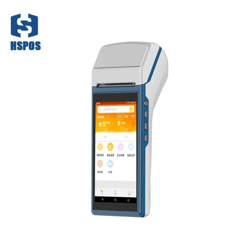 pda handheld com 58 milímetros de impressora 5,5 polegadas Android 5.1 suporte multi-língua HS-5501