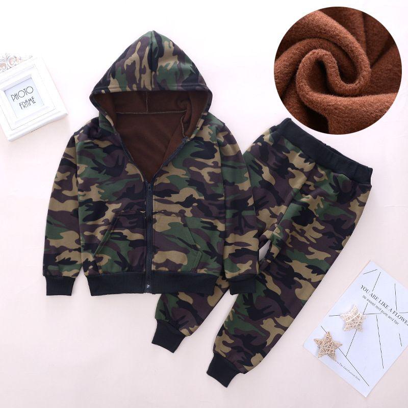 Baby-Mädchen Kleidung Outfits Sets Mantel + Hosen-Kind-Kleinkind-Junge-Kleidung-Klagen-Winter-warme Kinder Outfit
