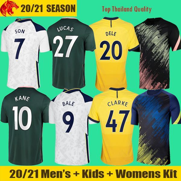 20 21 Maillots de football Tottenham Hotspurs BALE NDOMBELE 2020 2021 DELE KANE Spurs SON CLARKE Maillot de football WINKS Maillot homme Kit enfants