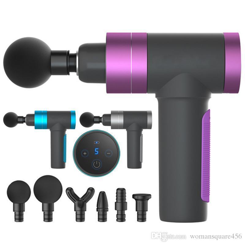 Massagepistole Percussion Massagegerät Muskel-Vibrationskörper-Therapie-Massager-Training Muskelschmerz Relief-Muskel-Relax-USB-Gebühr