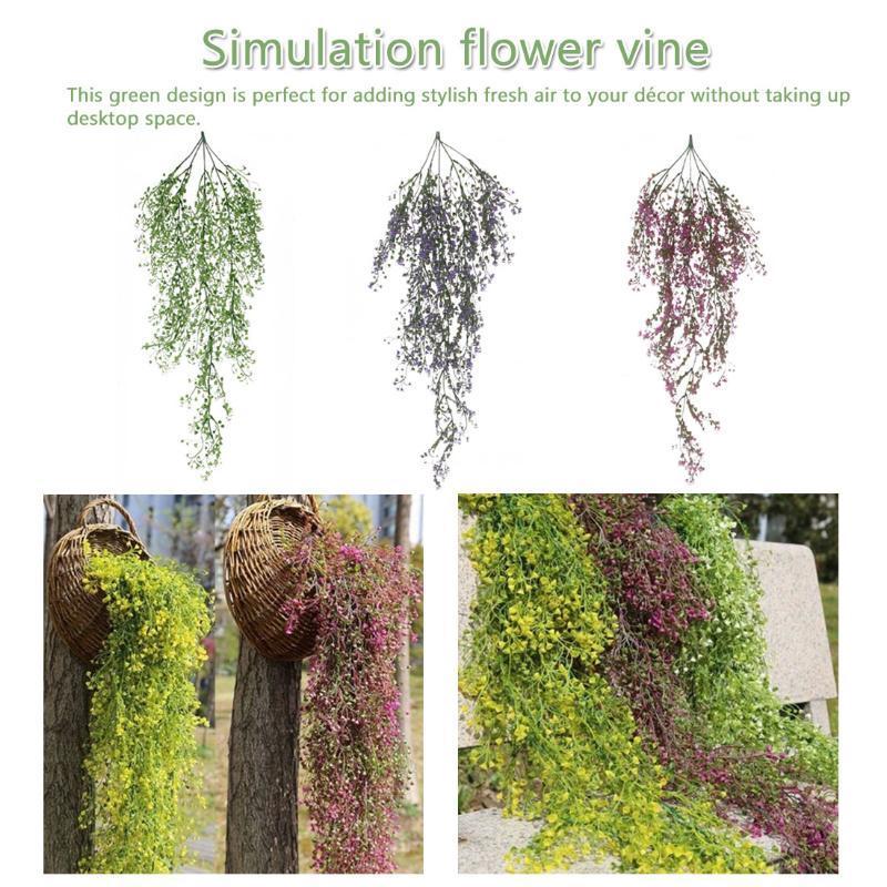 85cm flores artificiales simulación de la planta hojas verdes boda Decoración para el Hogar