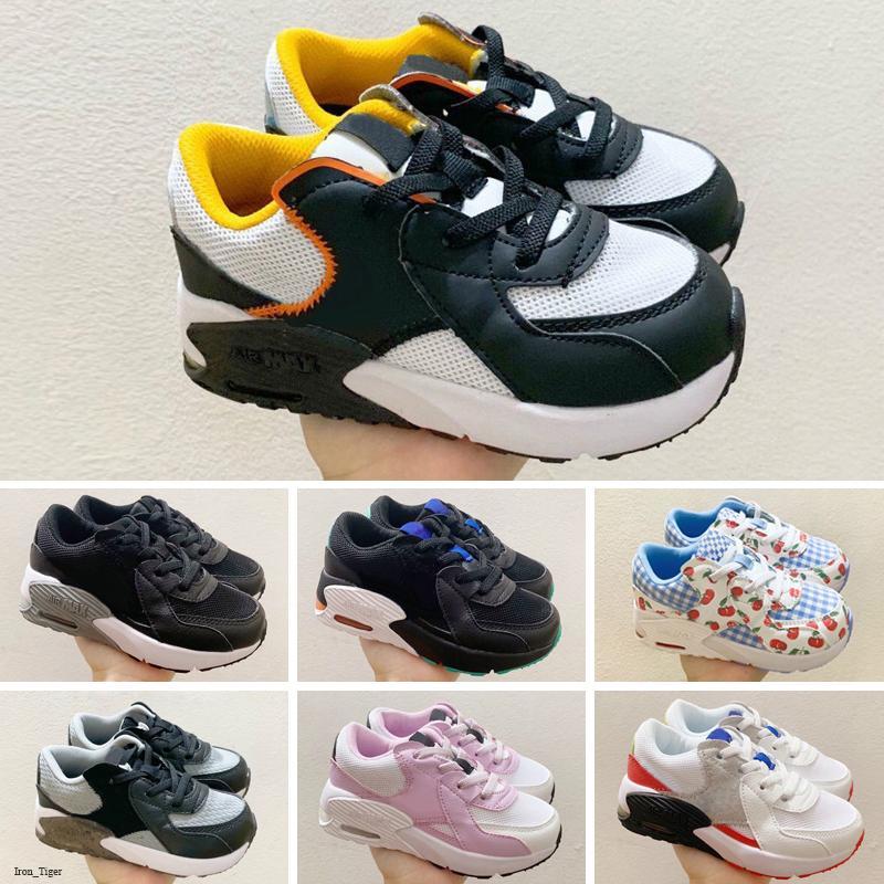 Nike Air Max Excee 2018 zapatos para bebé Boy Niña de los niños, niños, jóvenes zapatos corrientes de los deportes zapatillas de deporte negras del pirata clásico de la moda