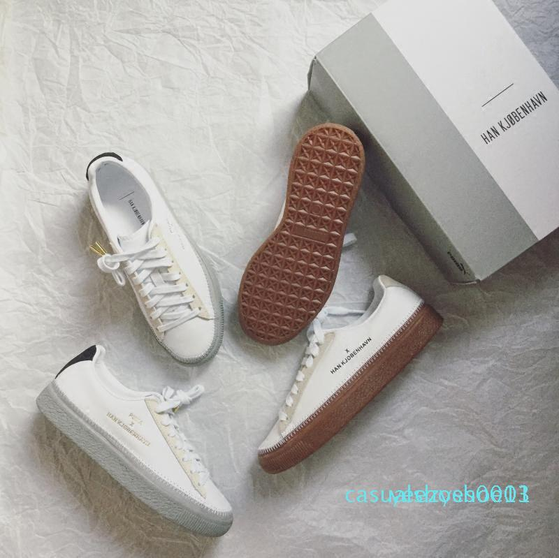 Han Kjobenhavn x Clyde Cousu pour hommes et femmes Chaussures Casual Baskets basses Couples Plate-forme Chaussures taille 05 LTS Y13