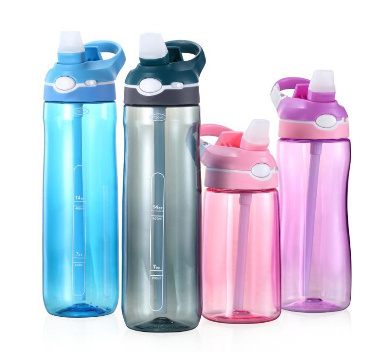 Оптовая Самой дешевой Тритан BPA Free Туризм Joging Спорт Портативной пластика бутылка вода Unisex большой емкость Герметичной Space бутылка вода